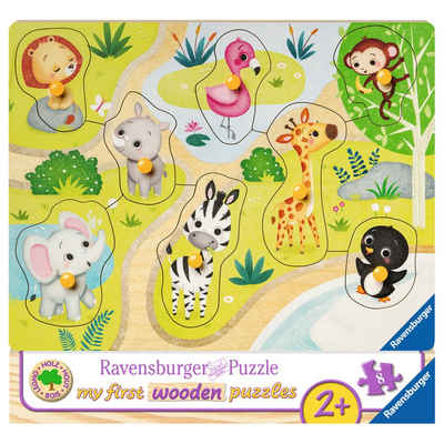 Ravensburger Puzzle »Unterwegs Im Zoo - My First Wooden Puzzles«, 8 Puzzleteile