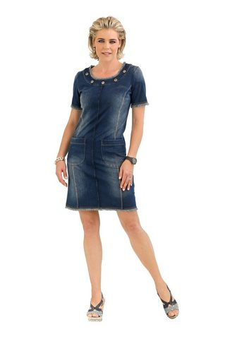 Платье в имитация джинсa