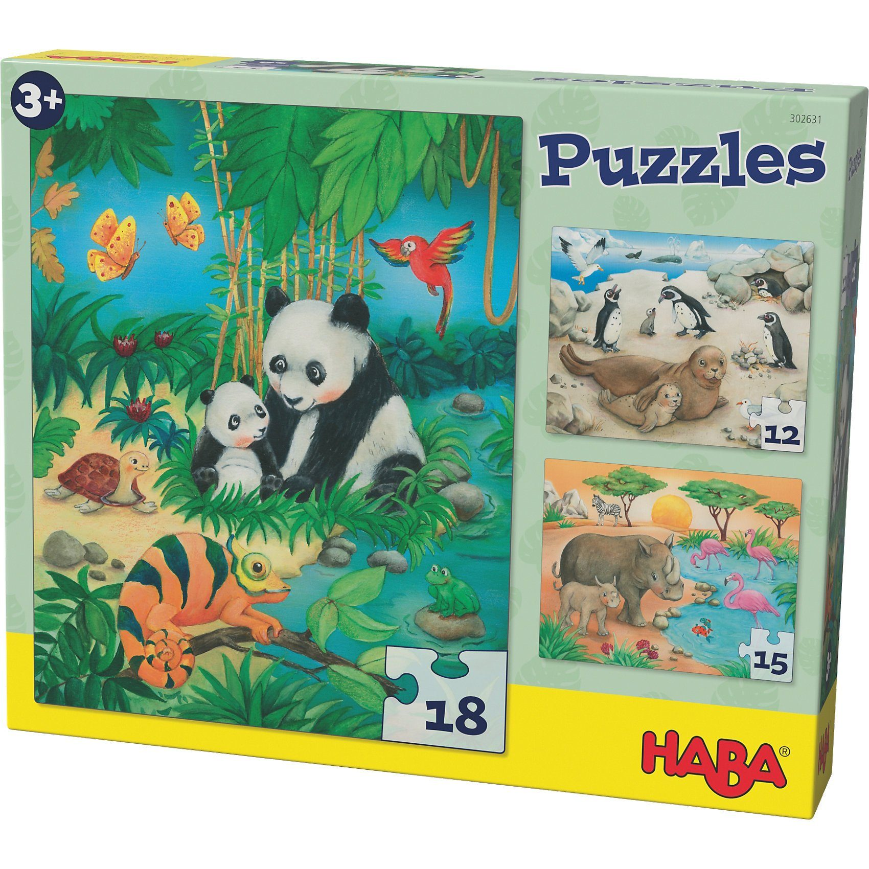 Haba Puzzles - 12/15/18 Teile - Tierfamilien