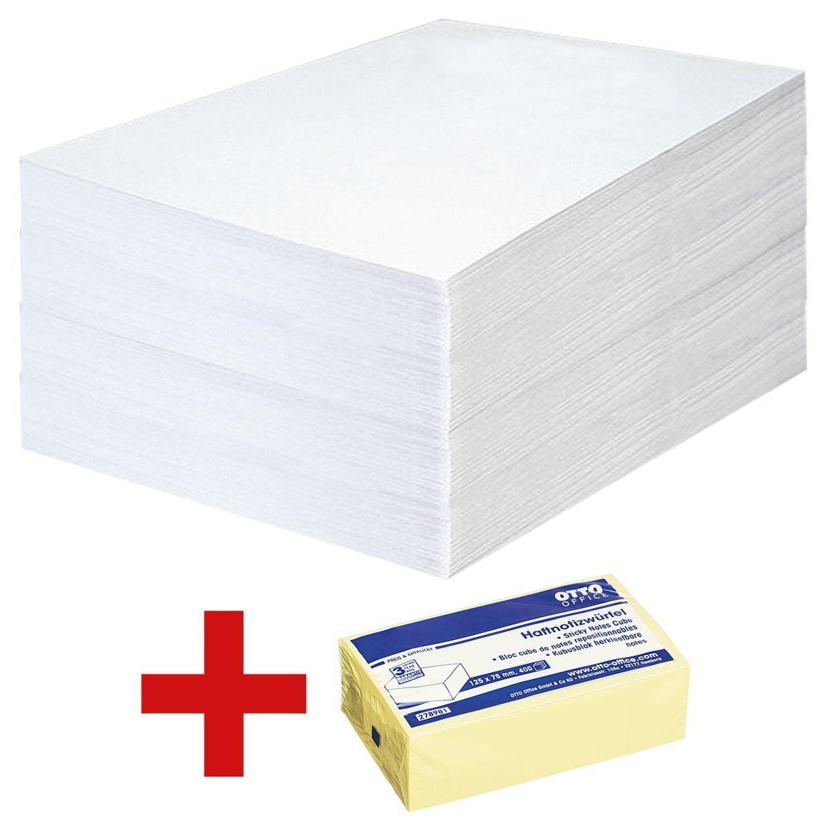 OTTOOFFICE STANDARD 500 Versandtaschen C5 inkl. Haftnotizwürfel 1 Set