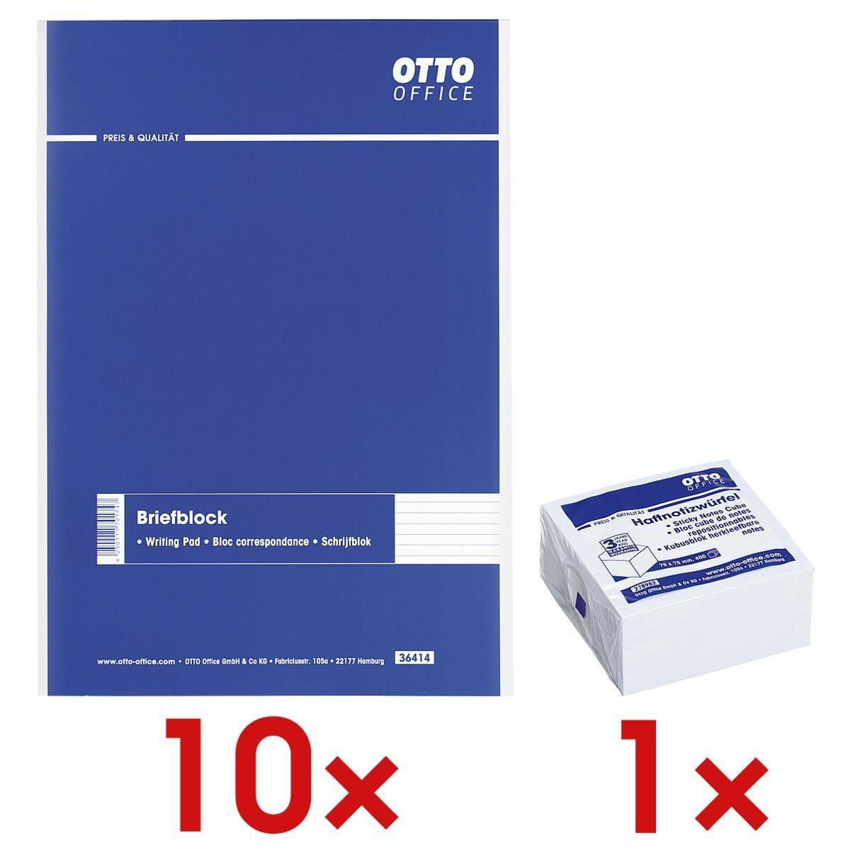 OTTOOFFICE STANDARD 10 Briefblöcke inkl. 1 Haftnotizwürfel 1 Set