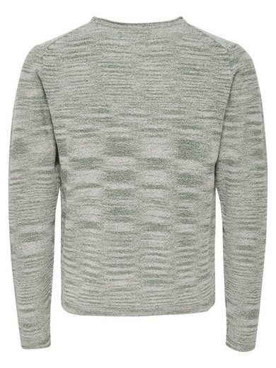 ONLY & SONS Detailreicher Strickpullover