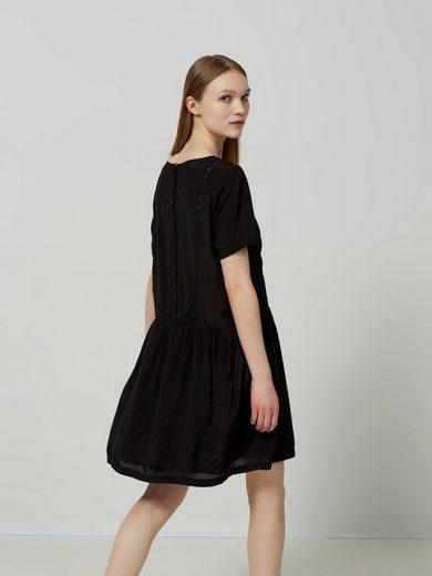 Selected Femme Viskose- Kleid mit kurzen Ärmeln