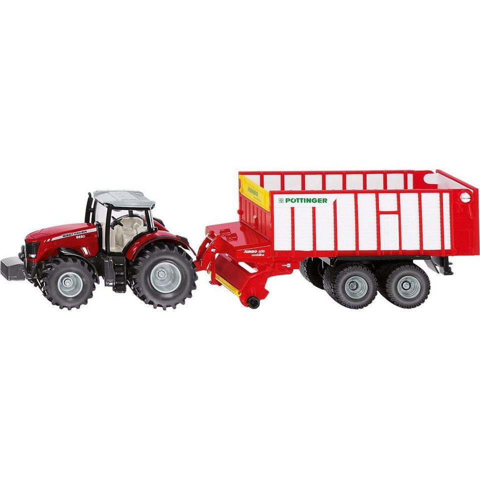 Siku Massey Ferguson Traktor mit Pöttinger Jumbo 1:50 online kaufen