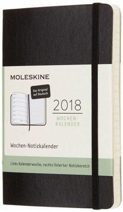 Broschiertes Buch »Moleskine 12 Monate Wochen Notizkalender 2018...«
