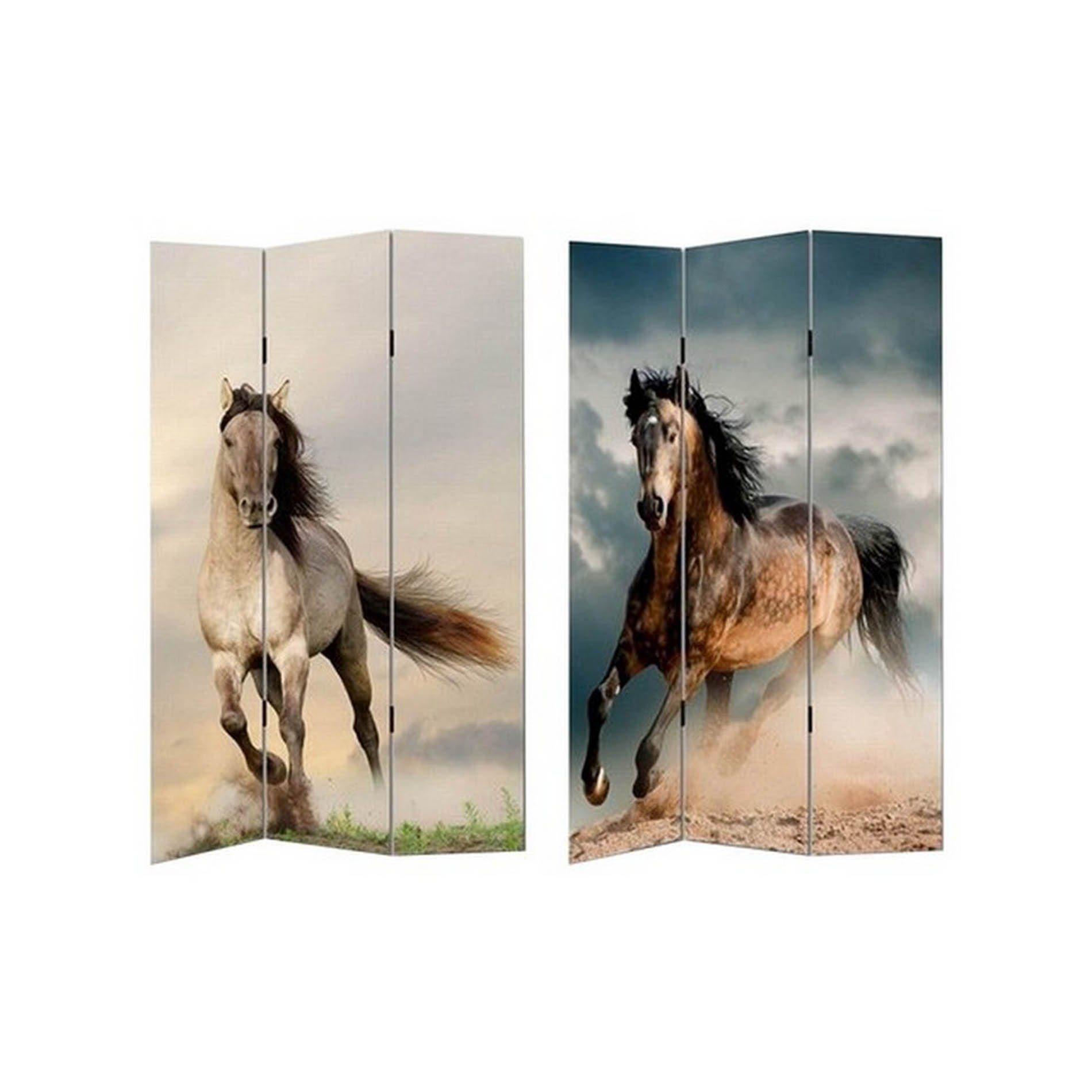 HTI-Line Paravent »Pferd«