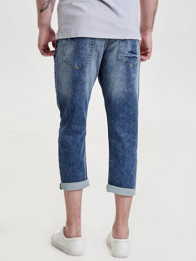 ONLY & SONS Beam Jog Cropped Anti Fit Jeans