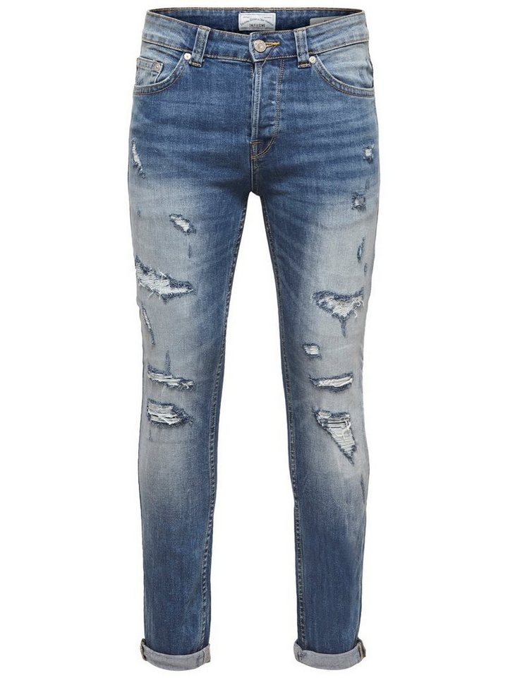 the best attitude 3c63d 197fd only   sons loom light blue slim fit jeans
