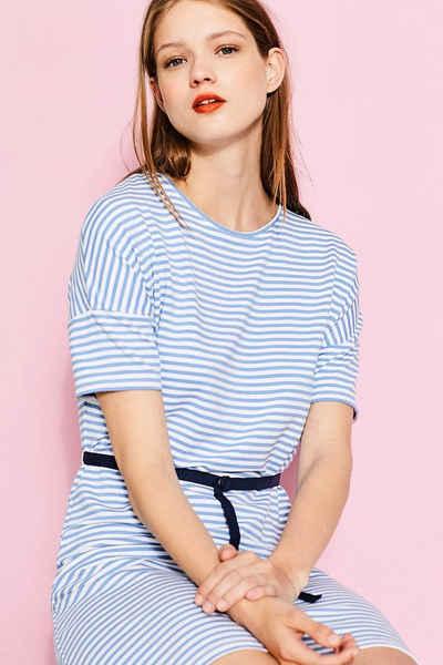 EDC Gestreiftes Jersey-Kleid mit Stretch Sale Angebote