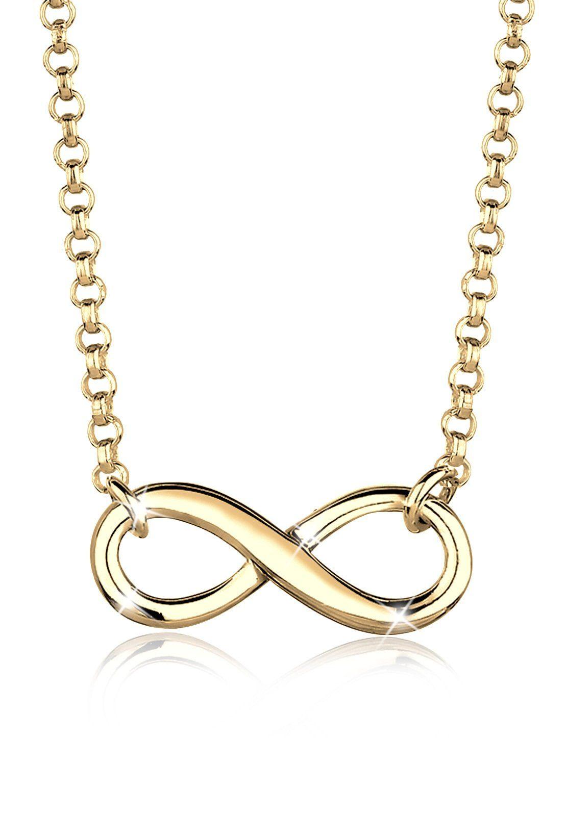 Elli Halskette »Infinity Unendlichkeit 925 Sterling Silber«