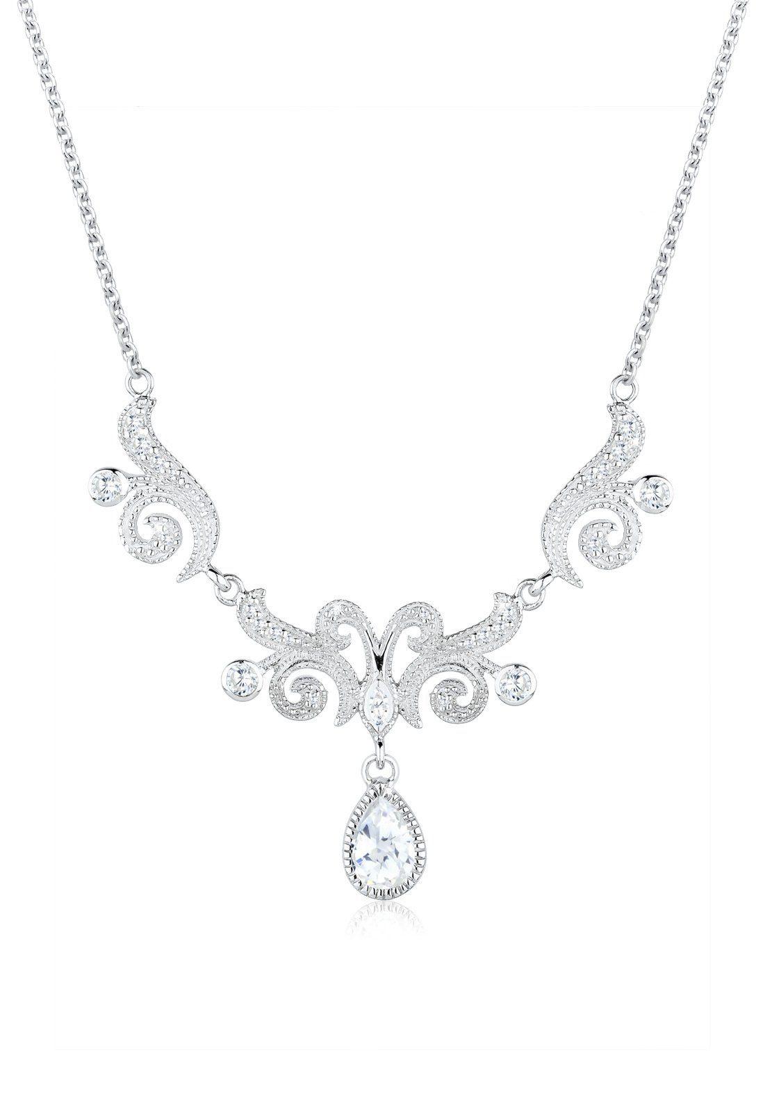 Elli Halskette »Collier Statementkette Zirkonia 925 Silber«