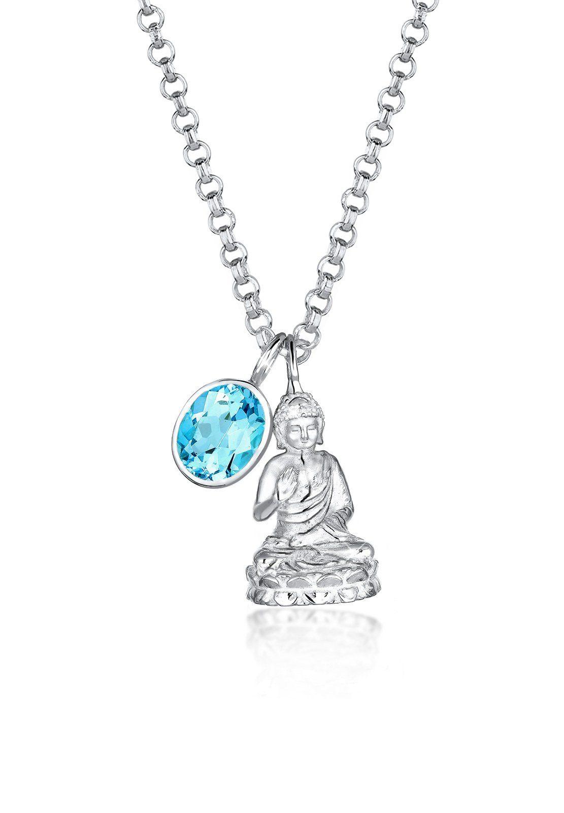 Elli Halskette »925 Sterling Silber Buddha Topas«