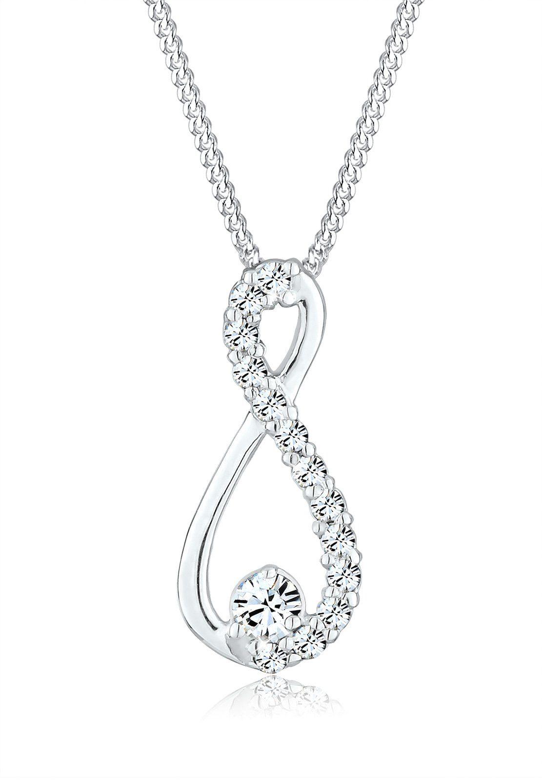 Elli Halskette »Infinity Swarovski® Kristall 925 Sterling Silber«