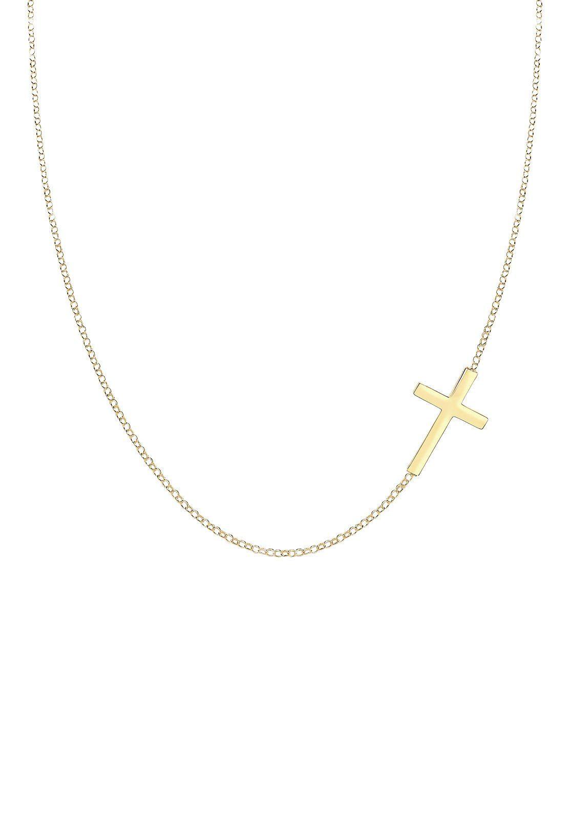 Elli Halskette »Kreuz 925 Sterling Silber«