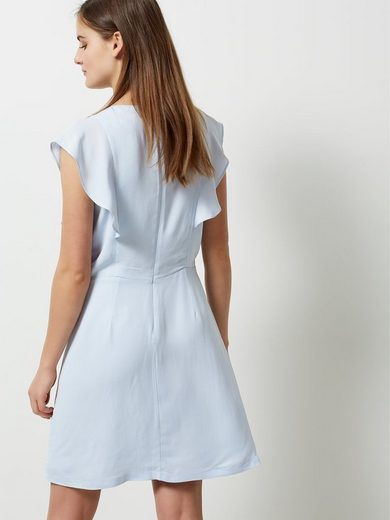 Selected Femme Viskose - Kleid mit kurzen Ärmeln