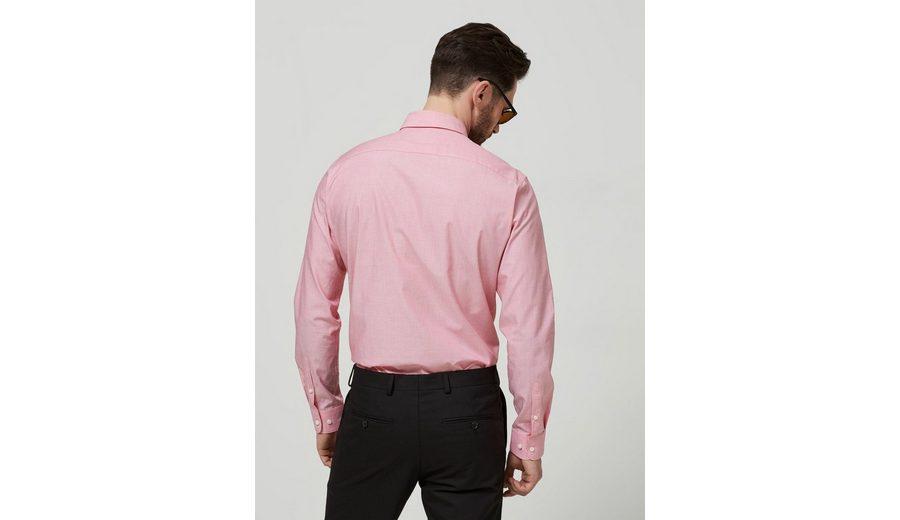 Selected Homme Schmal geschnittenes Langarmhemd Rabatt Verkauf Rhb8Ou0IWC
