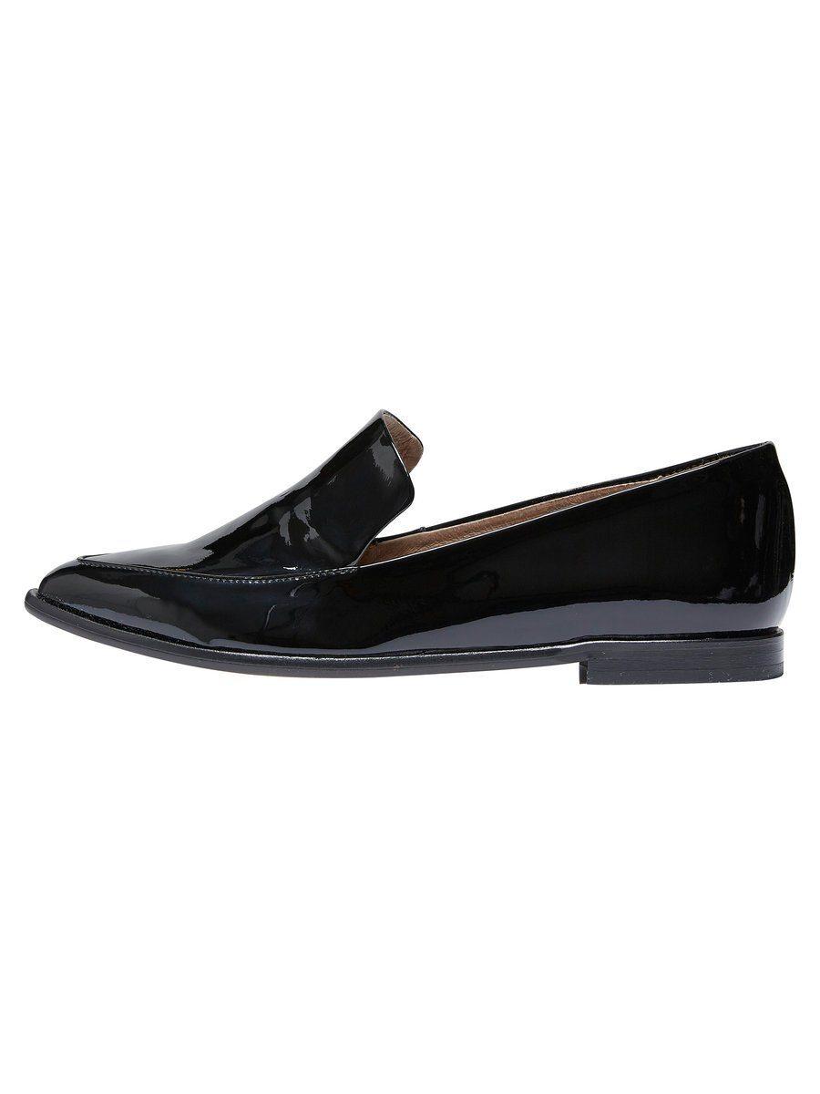 Selected Femme Leder- Halbschuhe online kaufen  Black