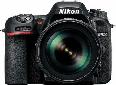 Nikon »D7500 KIT AF-S DX« Spiegelreflexkamera (AF-S DX NIKKOR 18-105mm 1:3,5-5,6G ED VR, 20,9 MP, WLAN (Wi-Fi), Gesichtserkennung)