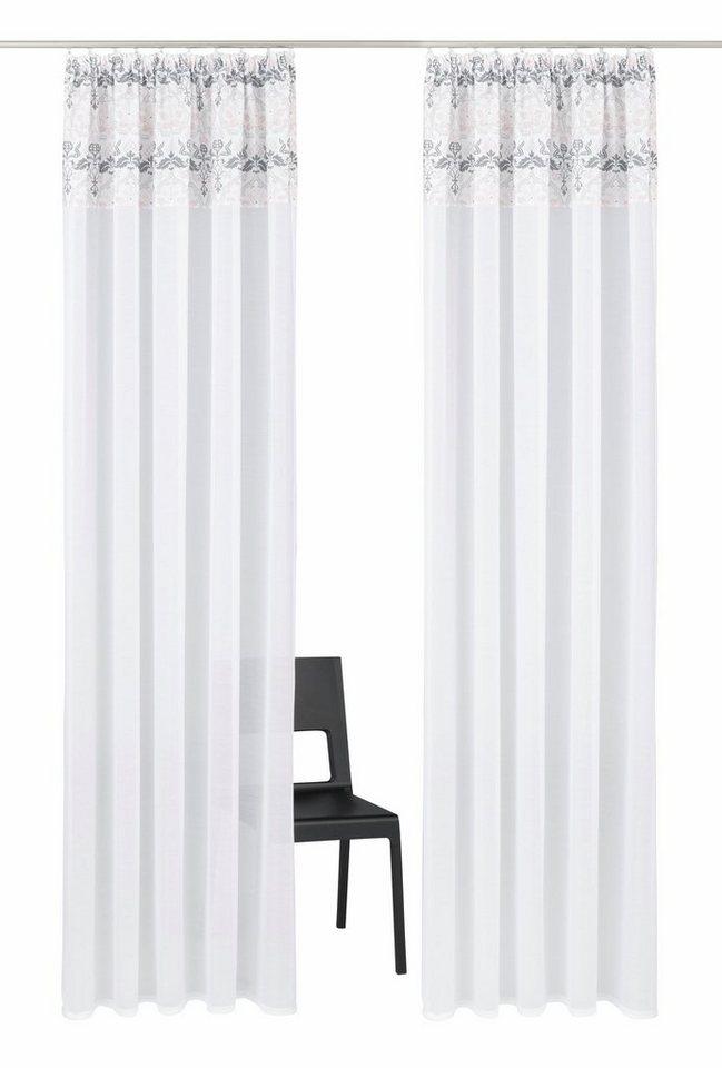 gardine cremona home affaire collection kr uselband 2 st ck online kaufen otto. Black Bedroom Furniture Sets. Home Design Ideas