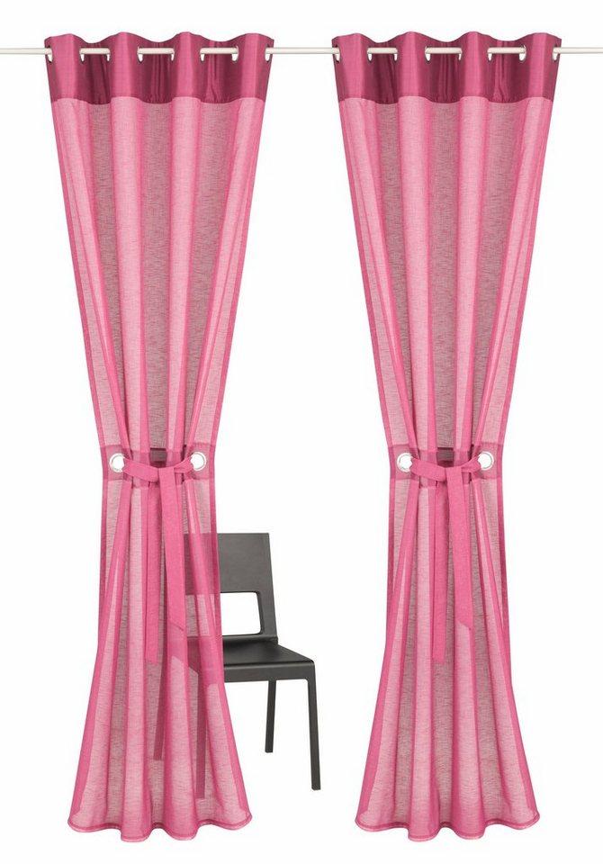 gardine willowa home affaire collection sen 2 st ck inkl raffhalter online kaufen otto. Black Bedroom Furniture Sets. Home Design Ideas