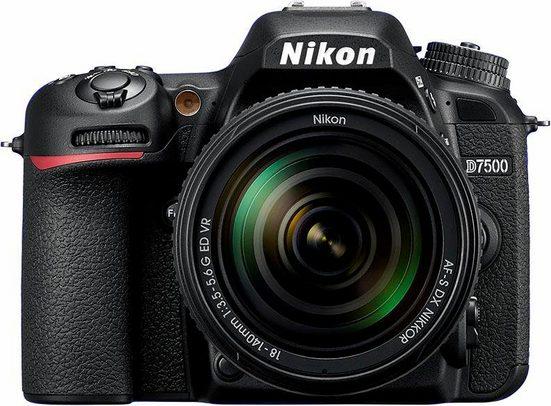 Nikon »D7500 KIT AF-S DX« Spiegelreflexkamera (AF-S DX 18-140 mm 1:3.5-5.6G ED VR, 20,9 MP, WLAN (Wi-Fi), Gesichtserkennung)
