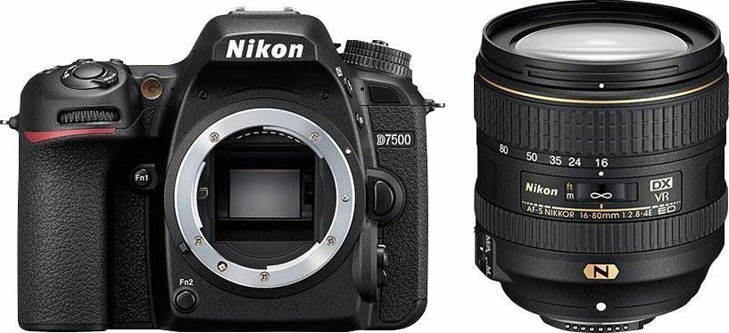 Nikon D7500 KIT AF-S DX 16-80 mm 1:2.8-4E ED VR schwarz Spiegelreflex Kamera