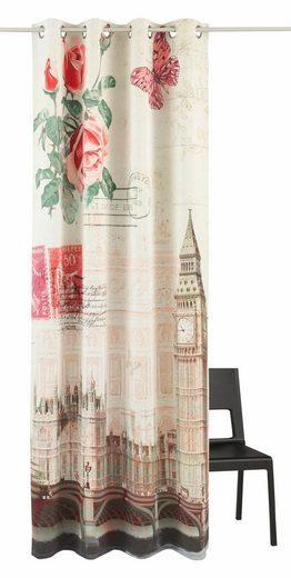 Vorhang »Postkarte«, my home, Ösen (1 Stück), Big Ben