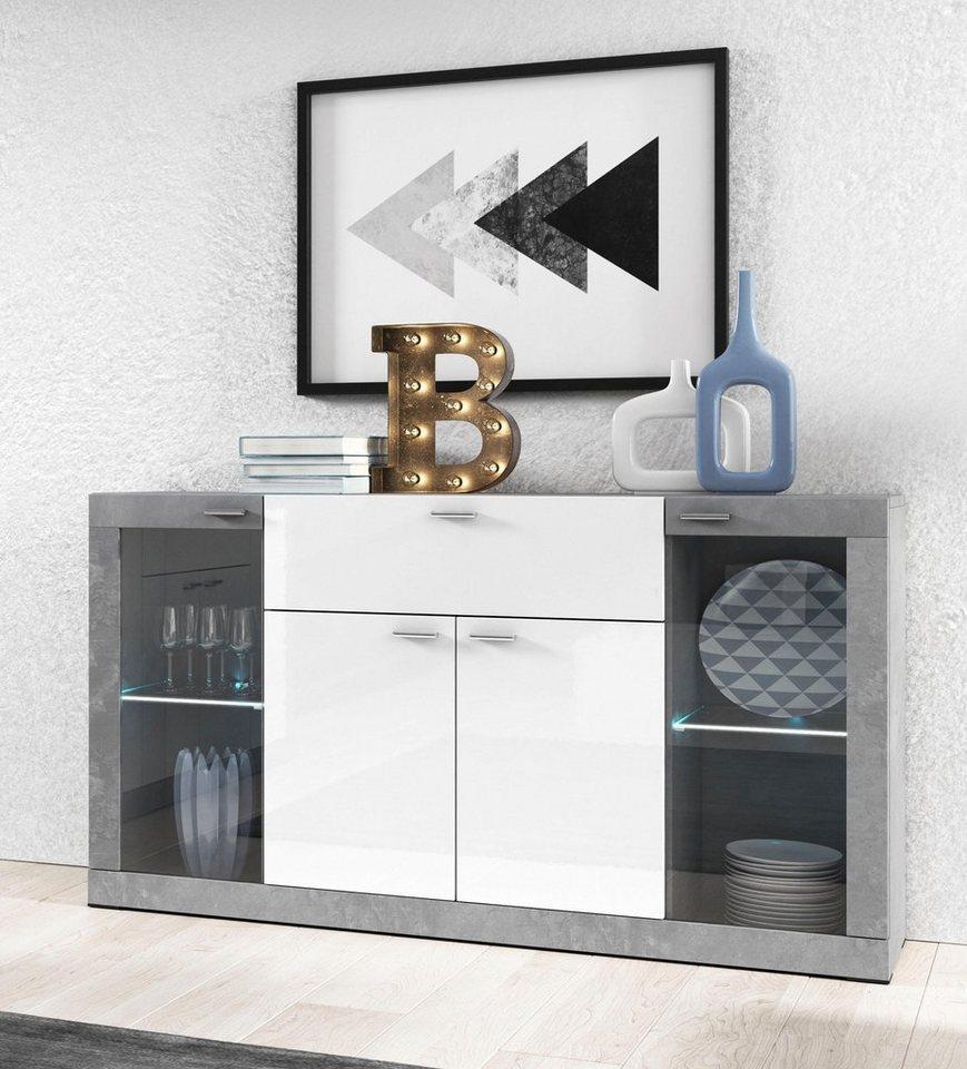 sideboard breite 153 cm fsc zertifizierter holzwerkstoff online kaufen otto. Black Bedroom Furniture Sets. Home Design Ideas