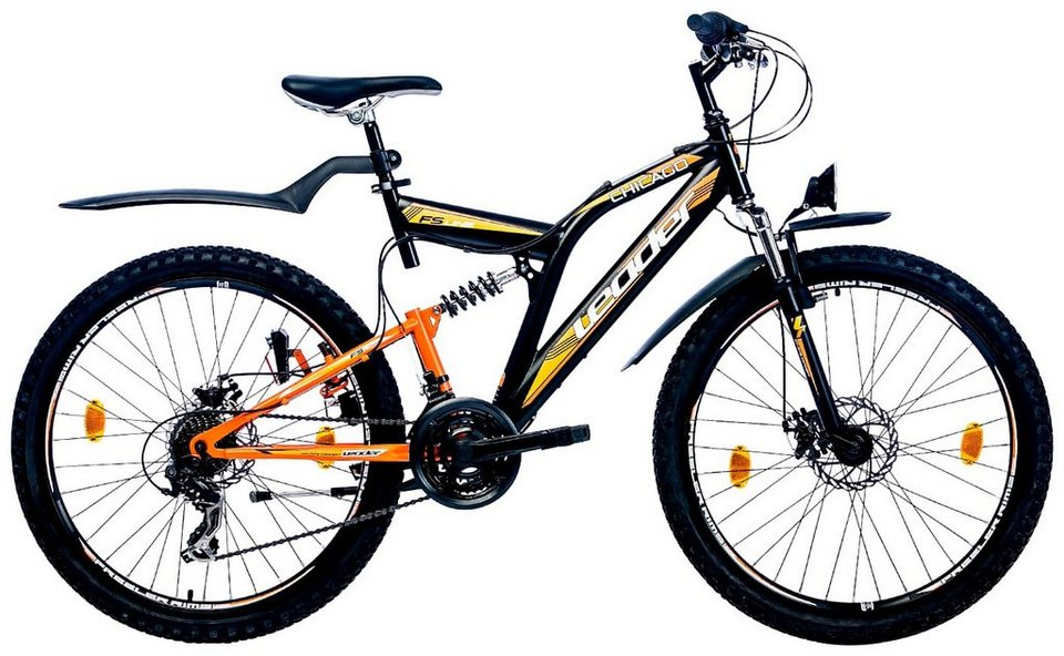 leader all terrain bike chicago 26 zoll 21 gang. Black Bedroom Furniture Sets. Home Design Ideas