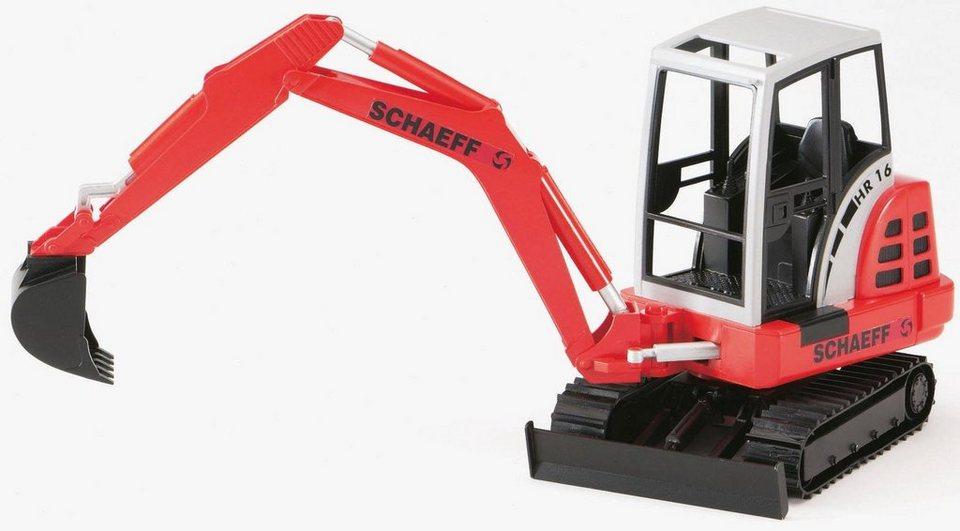 bruder spielzeug mini bagger 2432 schaeff hr 16 1 16 rot online kaufen otto. Black Bedroom Furniture Sets. Home Design Ideas