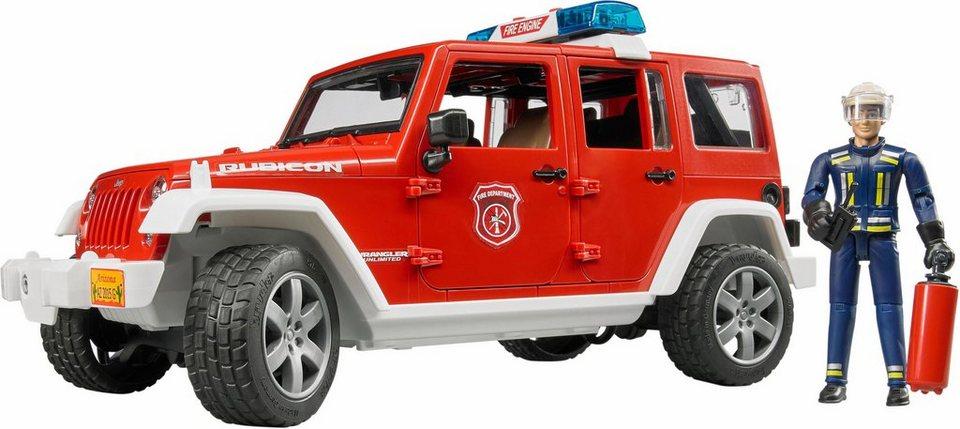 bruder spielzeug jeep feuerwehrauto mit licht und sound. Black Bedroom Furniture Sets. Home Design Ideas