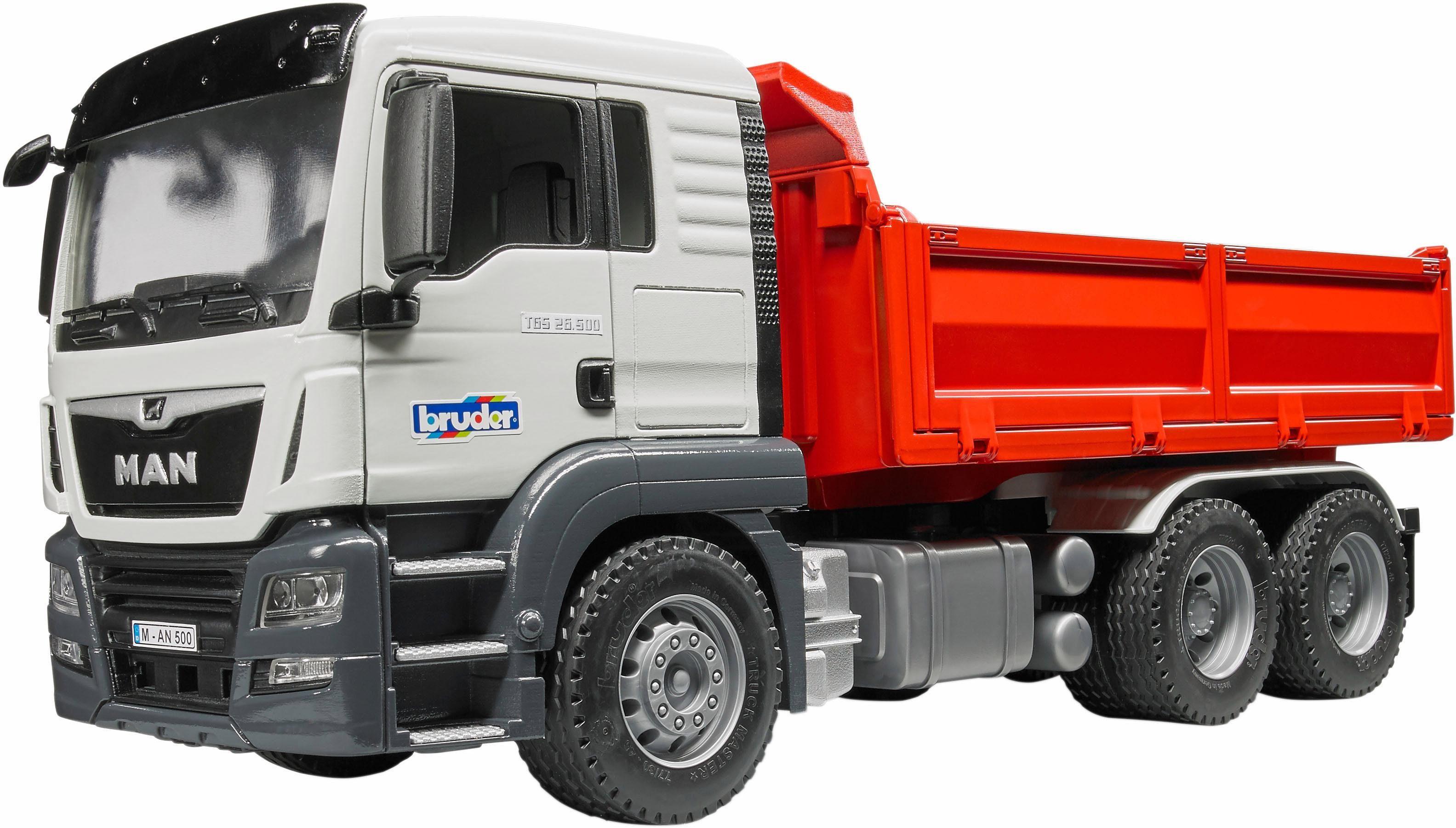 Bruder® Spielzeug LKW »MAN TGS Kipp LKW mit Ladebordwänden