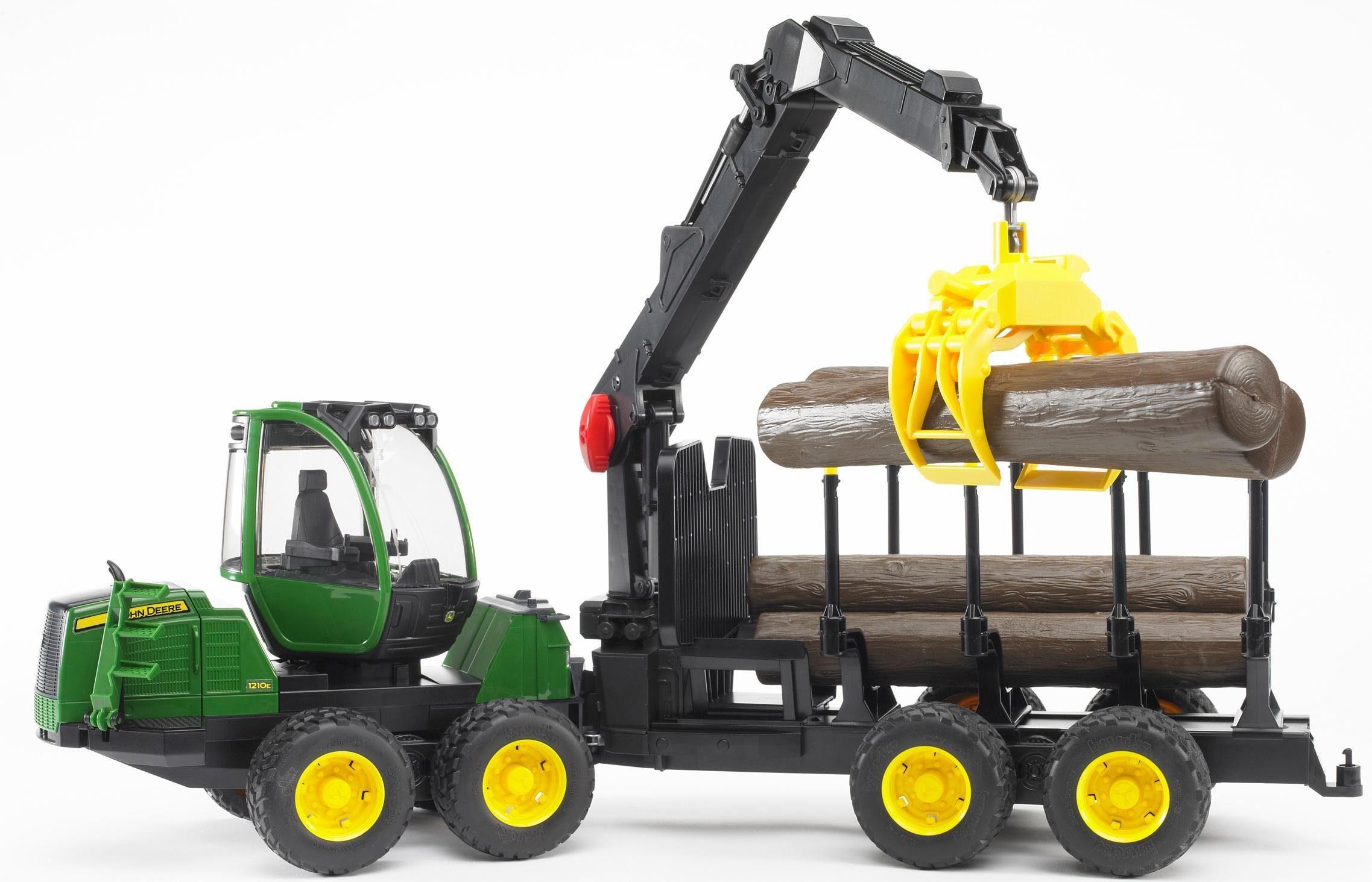 bruder® Spielzeug Forstmaschine 2133, »John Deere 1210E Rückezug mit Greifer, 1:16, grün«