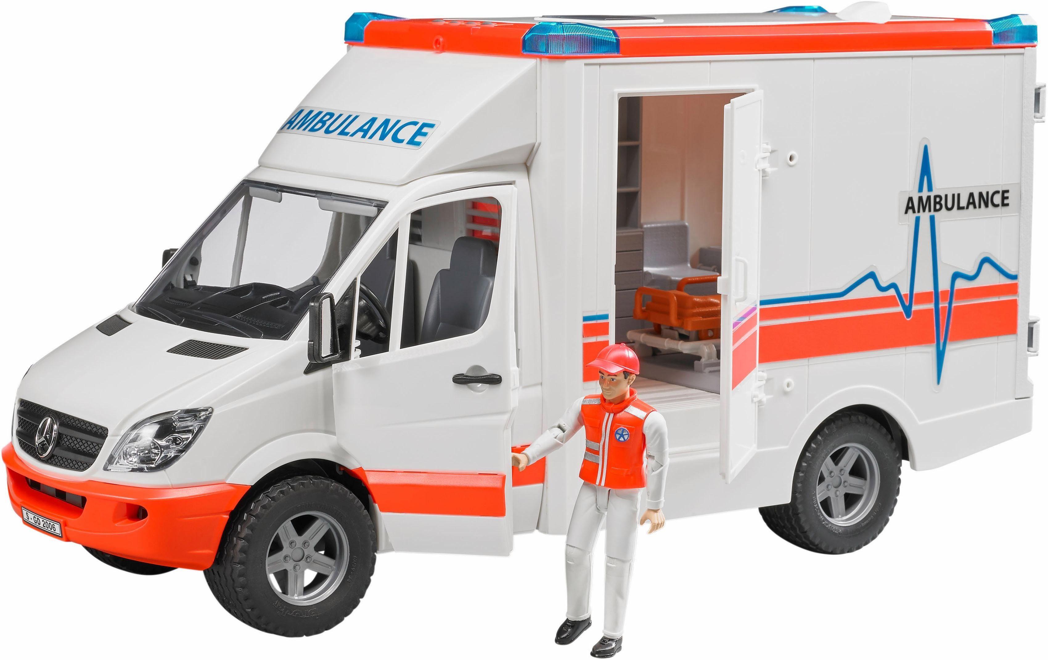 bruder® Spielzeug Rettungsfahrzeug 2536, »MB Sprinter Ambulanz mit Fahrer, 1:16, weiß«