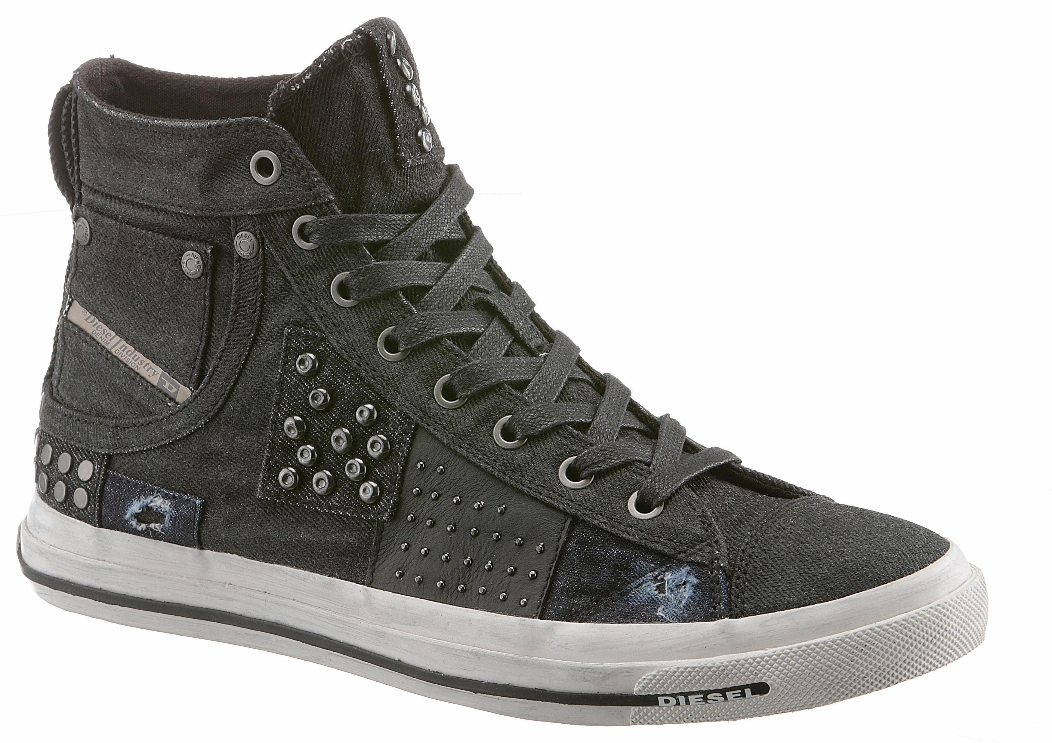 Diesel Exposure I Sneaker, im allover Jeans-Look  anthrazit-used