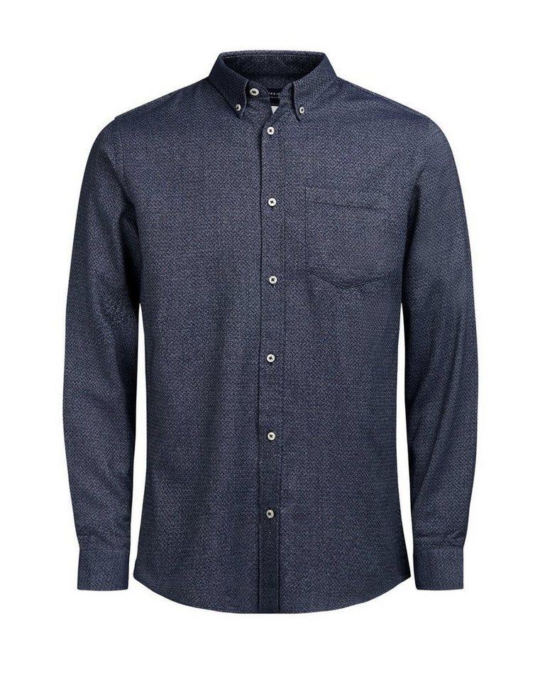 jack jones lang rmeliges hemd in schmaler passform. Black Bedroom Furniture Sets. Home Design Ideas
