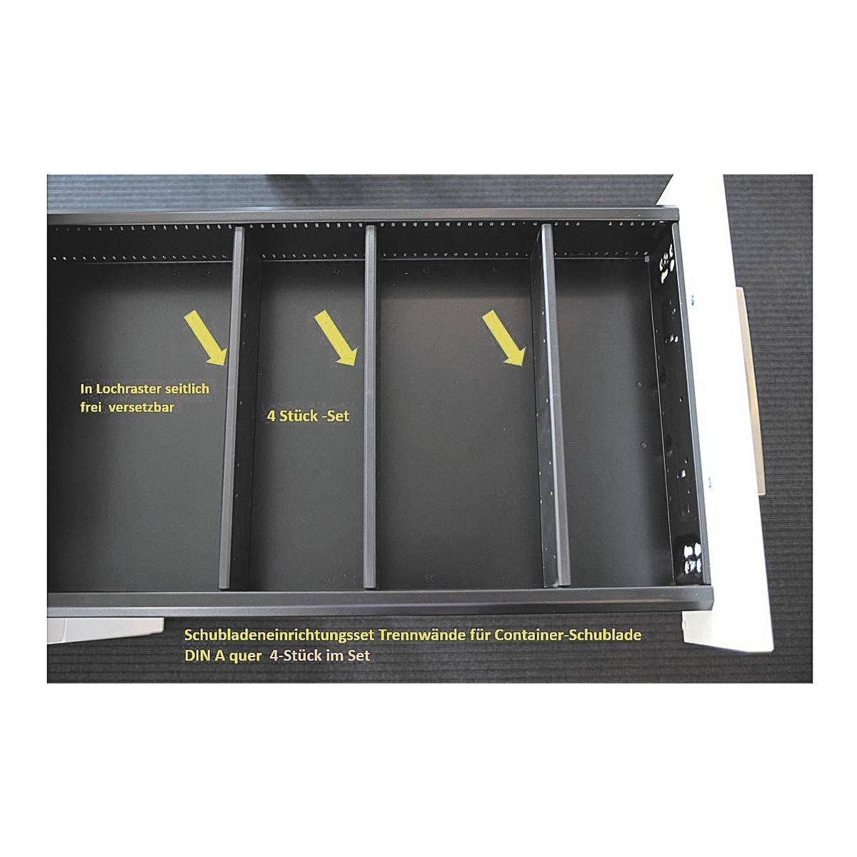 FMBUEROMOEBEL Containereinrichtungs-Set »Oldenburg« | Büro > Büromöbel-Serien | Schwarz | FMBUEROMOEBEL