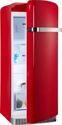 KitchenAid Kühlschrank KCFME 60150R, 155,5 cm hoch, 60,8 cm breit, A++, 155,5 cm hoch, Retro