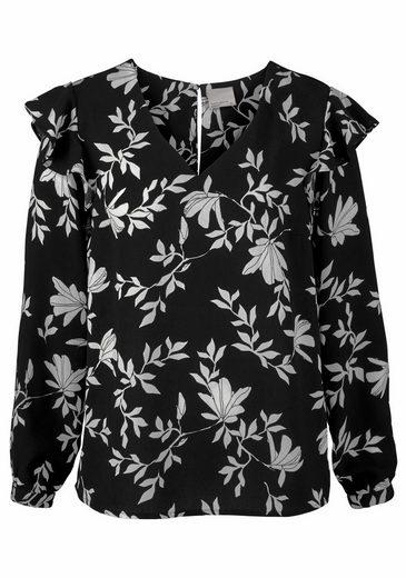 Vero Moda Shirtbluse MARTHA, mit Volant an der Schulter