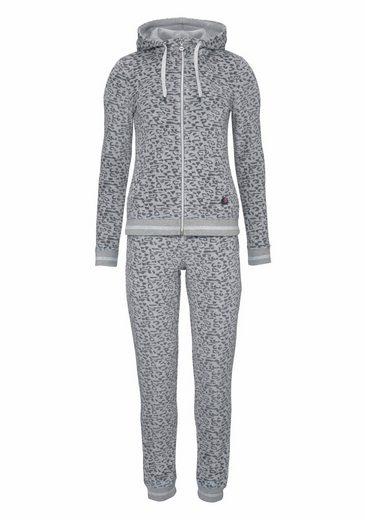 Melrose Trainingsanzug Extravaganter Anzug aus hochwertigem Nicki-Velours