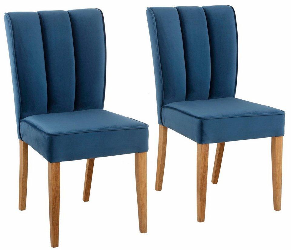 home affaire stuhl marita im 2er pack bezug in edler samtoptik online kaufen otto. Black Bedroom Furniture Sets. Home Design Ideas