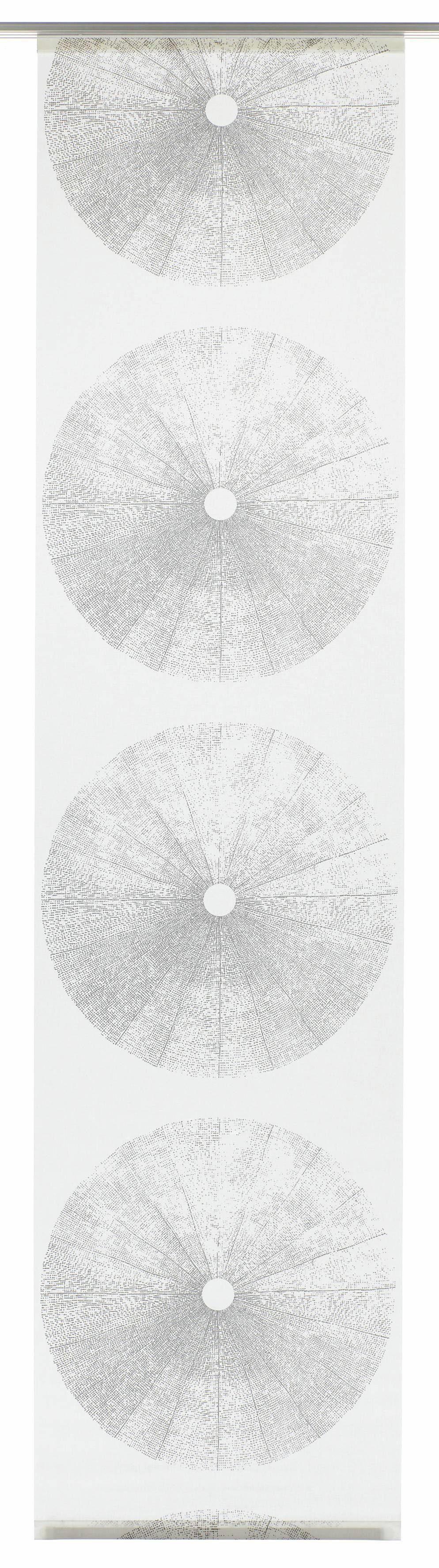 Schiebegardine, Gardinia, »Tree«, mit Klettband, mit silbernen Paneelwagen (1 Stück mit Zubehör)