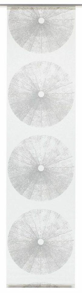 schiebegardine tree gardinia klettband 1 st ck mit wei en paneelwagen online kaufen otto. Black Bedroom Furniture Sets. Home Design Ideas