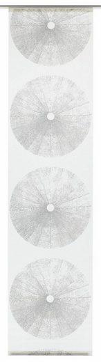Schiebegardine »Flächenvorhang Stoff Tree mit weißen Paneelwagen«, GARDINIA, Klettband (1 Stück)
