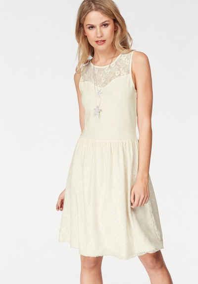 Weisses kleid langarm
