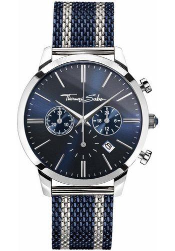 Herren THOMAS SABO Chronograph REBEL SPIRIT CHRONO WA0285-281-209 blau | 04051245284959