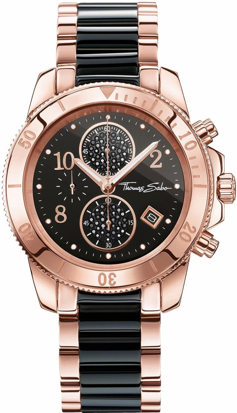 THOMAS SABO Chronograph »GLAM CHRONO, WA0223-268-203«