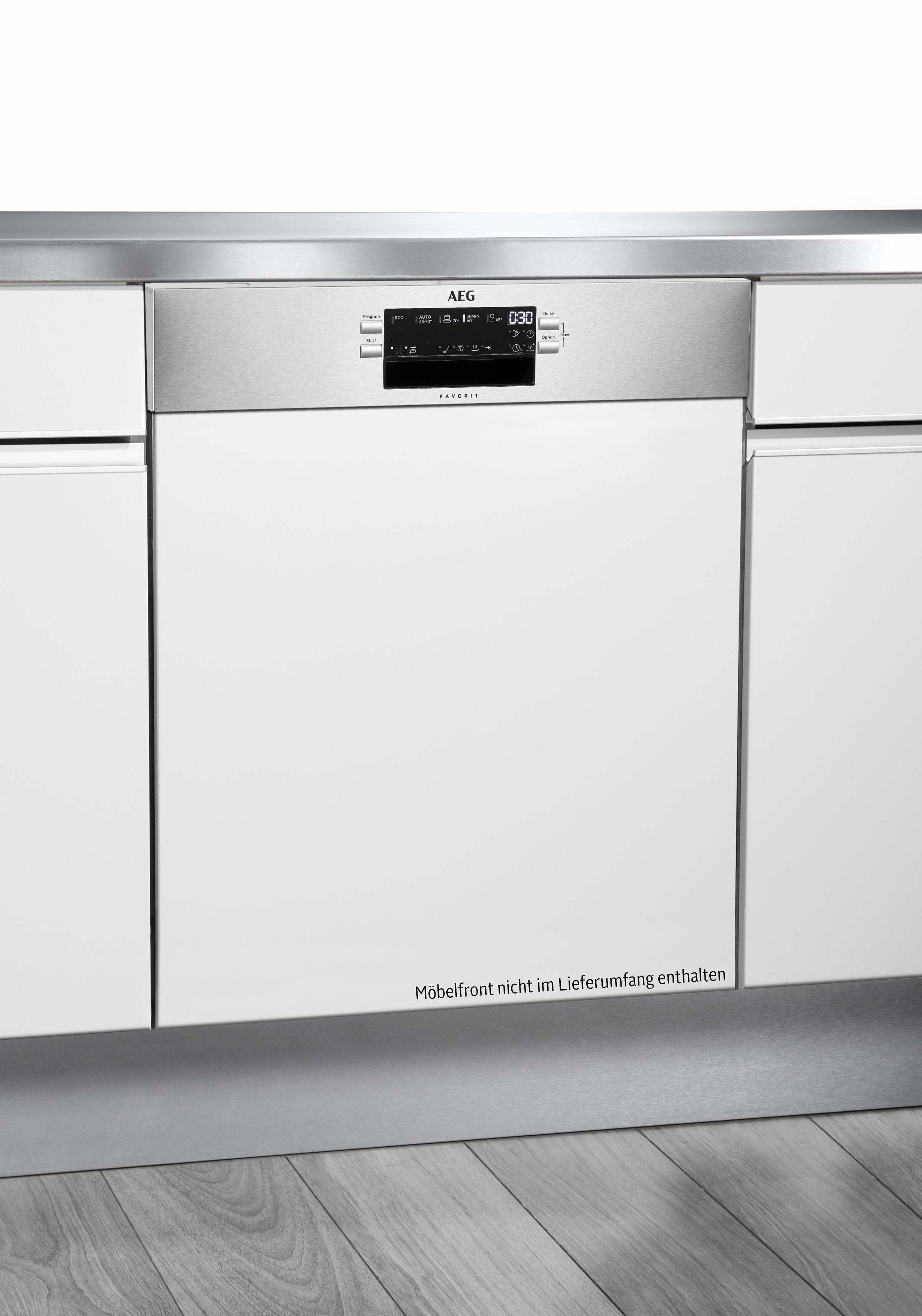 AEG teilintegrierbarer Geschirrspüler, FEB52610ZM, 9,9 l, 13 Maßgedecke, Energieeffizienzklasse A++