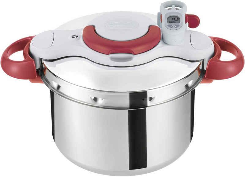 Tefal Schnellkochtopf »Clipso Minut' Perfect«, Edelstahl, (1-tlg), P46207, 6 Liter Inhalt, gesund kochen, schnell kochen, induktionsgeeignet, für alle Herdarten, Edelstahl