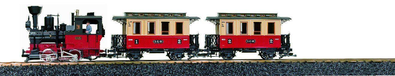 Märklin Einsteigerset Gartenlokomotive mit Sound, »LGB Startset Personenzug 230 Volt«